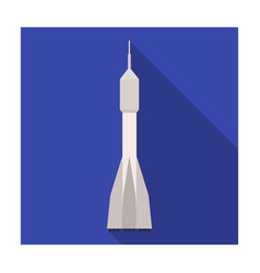 a rocket to fly into space transport for space vector image