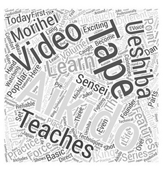 aikido video Word Cloud Concept vector image vector image