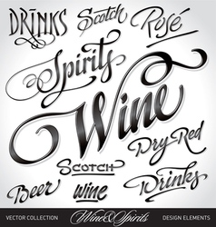beverage headlines set vector image vector image