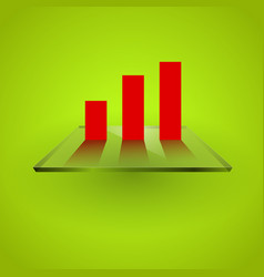 graph chart on glass vector image vector image