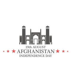 Independence Day Afghanistan vector image
