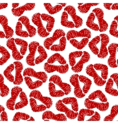Seamless pattern with woman lip prints vector image