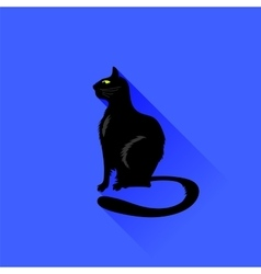 Sitting Cat Icon vector image vector image
