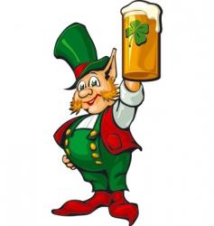 St Patrick's beer vector image vector image