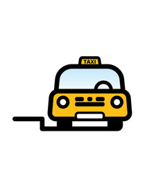 yellow taxi cab vector image