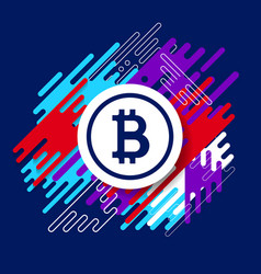 crypto currency bitcoin design vector image