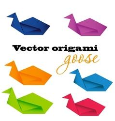 origami goose vector image