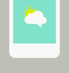 Phone screen with sunny message vector image