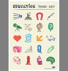 School and education web icons set vector image
