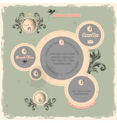 Web design bubbles in vintage style vector image vector image