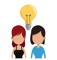 women idea team communication vector image