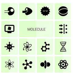 14 molecule icons vector image