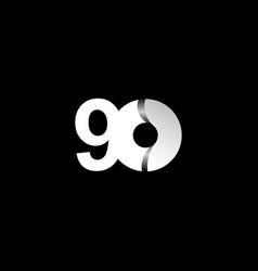 90 years anniversary celebration white circle vector