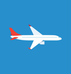 airplane passenger plane in the blue background vector image