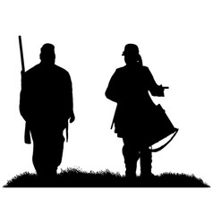 american civil war soldier and drummer boy vector image
