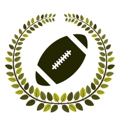 Arch of leaves with football ball vector