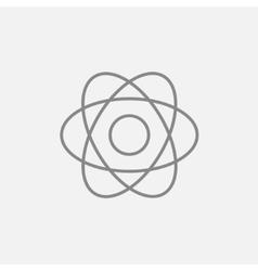Atom line icon vector