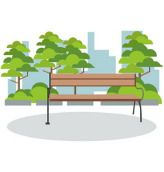 background park rest bench in minimalist style vector image