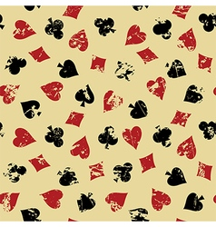 Background with suits of playing cards vector image