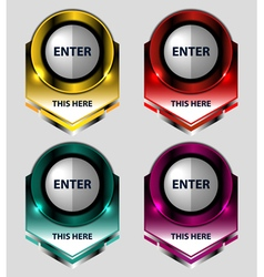 Banners buttons design vector