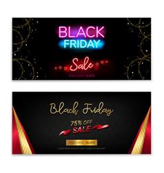 black friday sales gift voucher or banner vector image