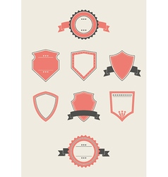 Blank badges and shields vector