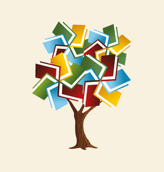 Book tree concept for global education vector