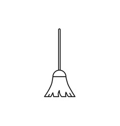 broom of icon vector image