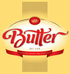 Butter packaging design vector