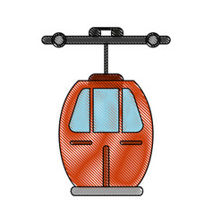 cableway mountain transport vector image