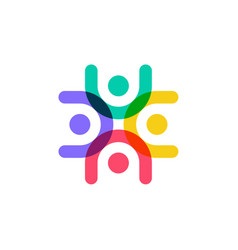 colorful family human people logo icon vector image