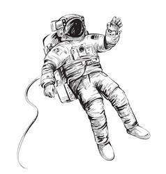 Cosmonaut or astronaut in spacesuit vector