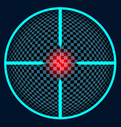 Crosshair with a red sight vector