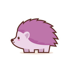 cute little hedgehog cartoon comic character vector image