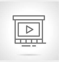Display for promo video simple line icon vector