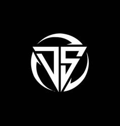 Ds logo monogram design template vector