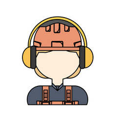 earmuffs vector image