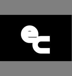 Ec e c black white bold joint letter logo vector