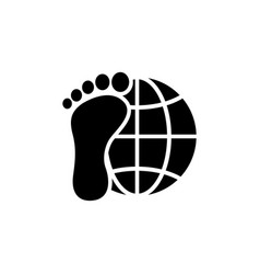 explorer around the world earth and foot flat vector image