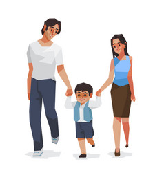 familydad son and mom vector image