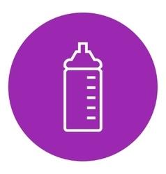 Feeding bottle line icon vector