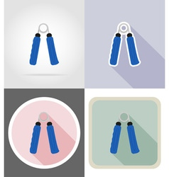 Fitness flat icons 07 vector