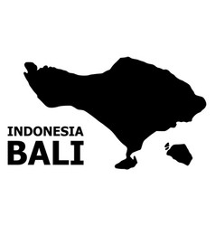 Flat map bali island with name vector