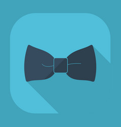 Flat modern design with shadow bow tie vector