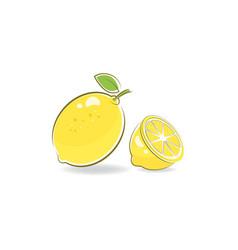 fresh lemon icon vector image