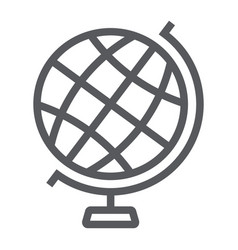 globe line icon earth and world geography sign vector image