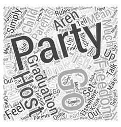 Graduation parties word cloud concept vector