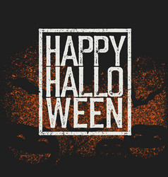 happy halloween holiday logotype vector image