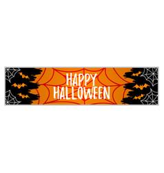 Happy halloween party concept label banner art vector