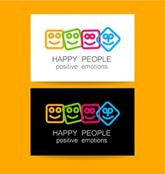 happy people positive emotions vector image